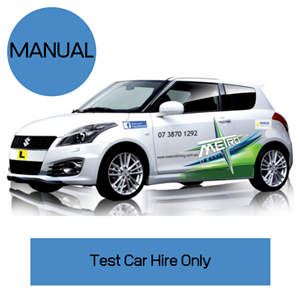 Manual car hire  test only